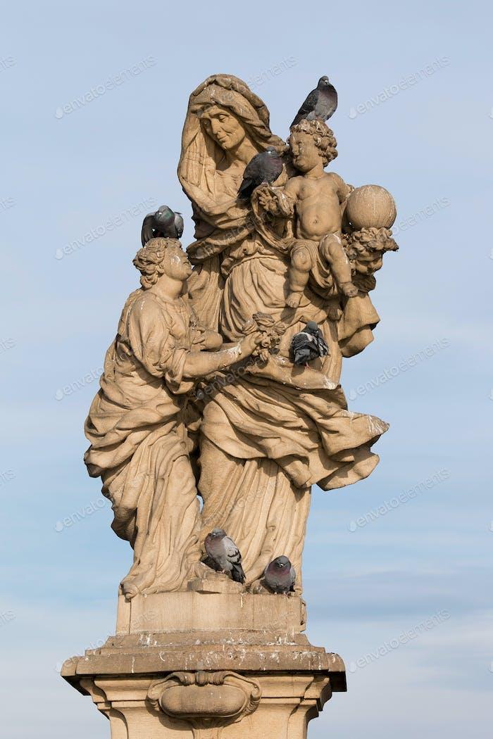 Statue von Saint Anne, Karlsbrücke