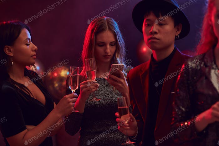 Guests at Nightclub Party