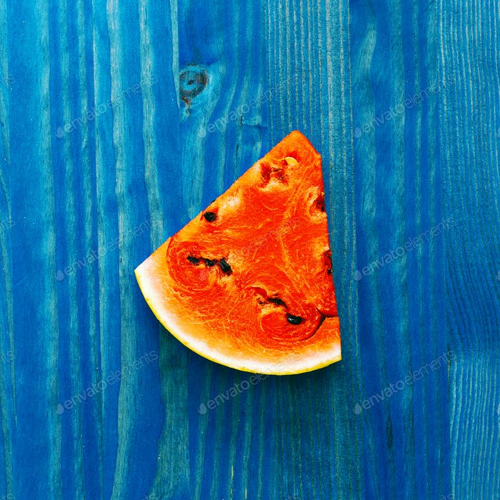 Piece of watermelon. Fresh tropical ideas. Creative art