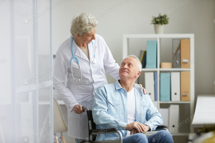 Handicapped Man in Clinic