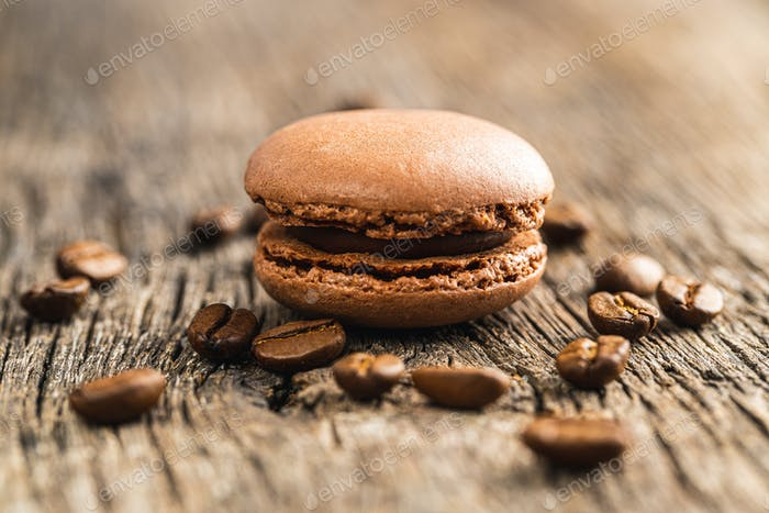 Sweet macarons with coffee flavor.
