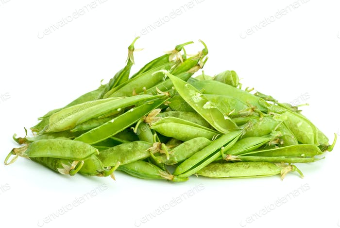 Garbage pile: pea pods