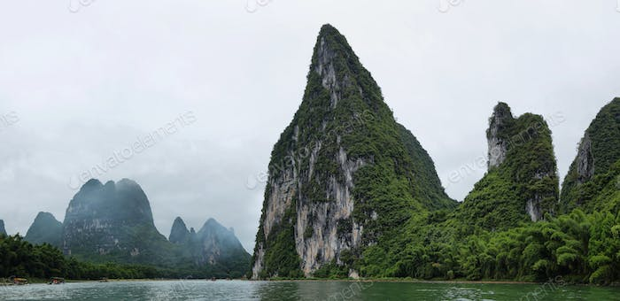 Karst mountains around Li river