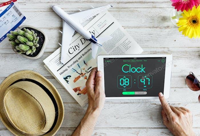 Erinnerung Wake Up Clock Konzept