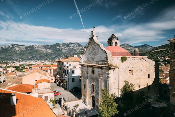 Terracina, Italien. Kirche des Fegefeuers Im Barockstil gebaut Auf