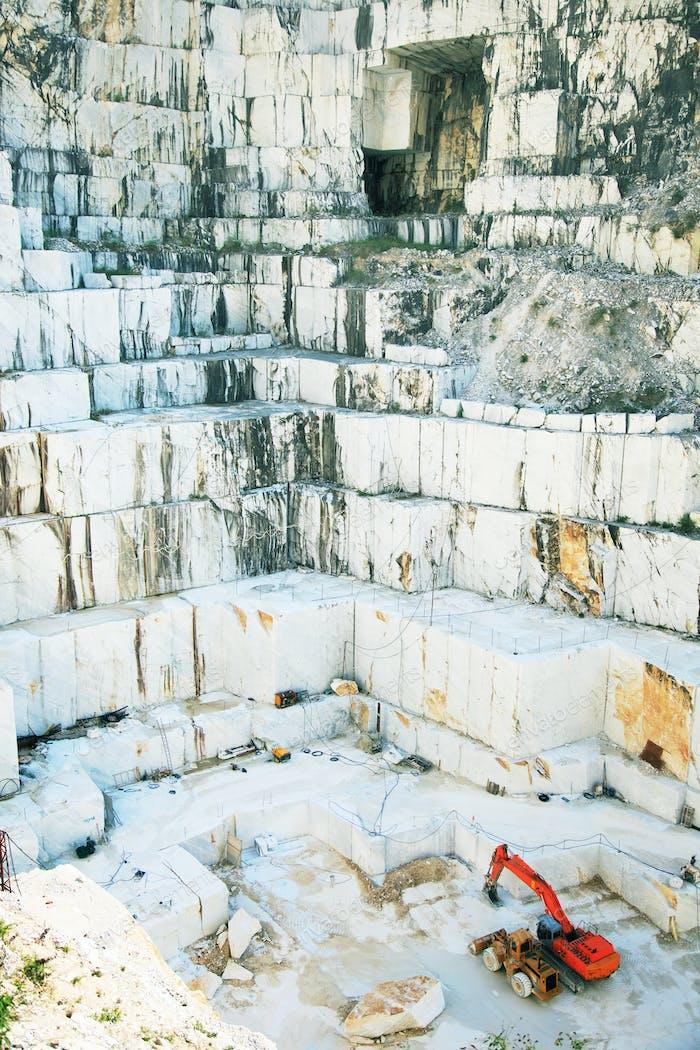 White marble quarry Carrara, Italy