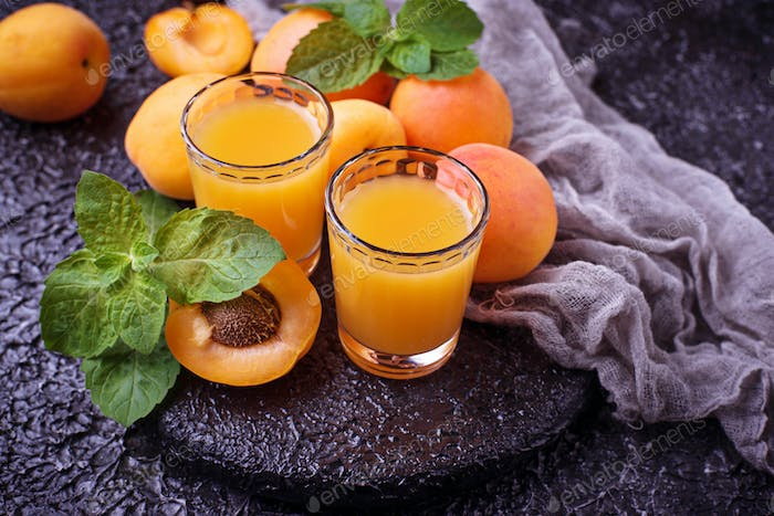 Apricot juice. Fresh summer drink
