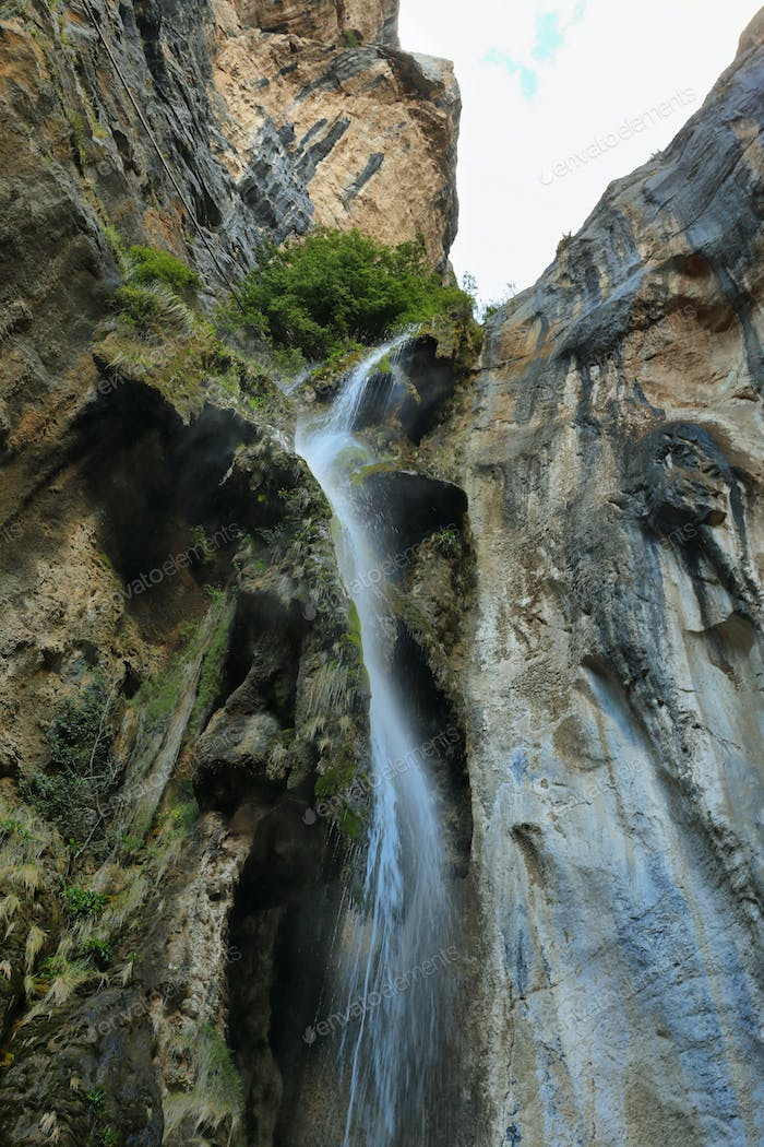 Waterfall in Nor Yauyos-Cochas nature reserve, Peru
