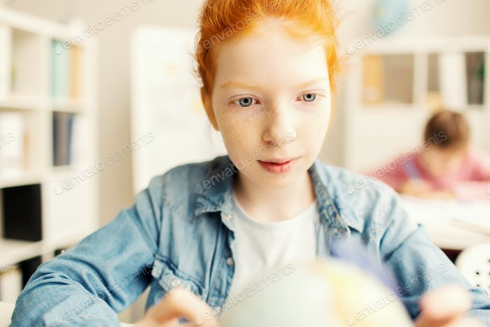 Pupil at lesson