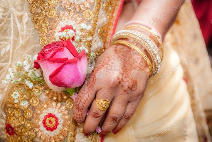 Indian bride hand