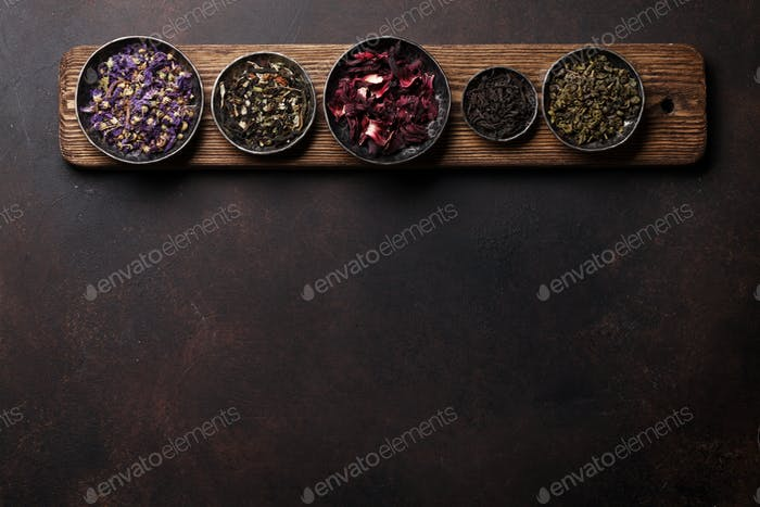 Various dry tea