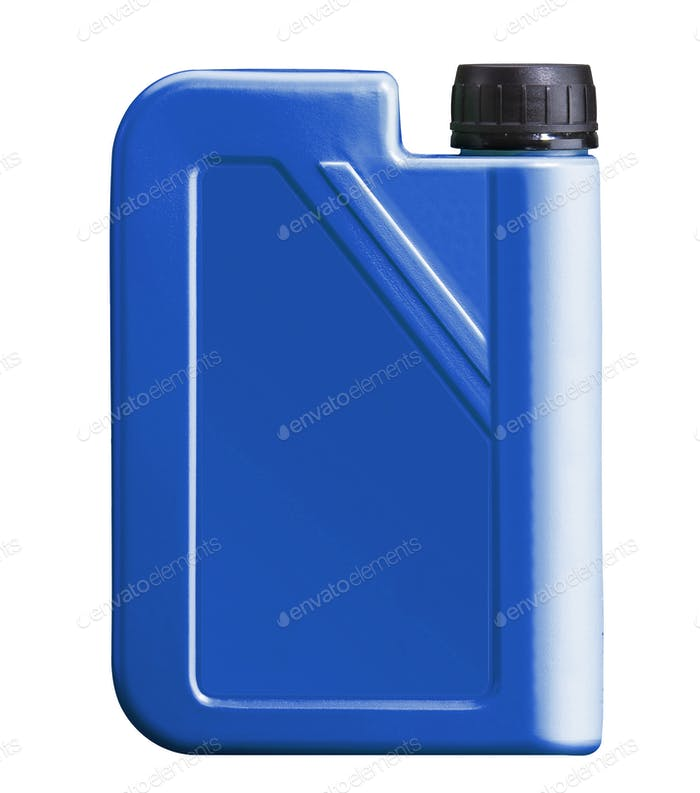 plastic canister for motor oil isolated
