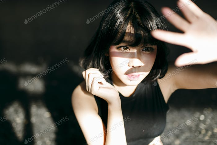 Asian Ethnicity Cute Pretty Style Girl Female Young Concept