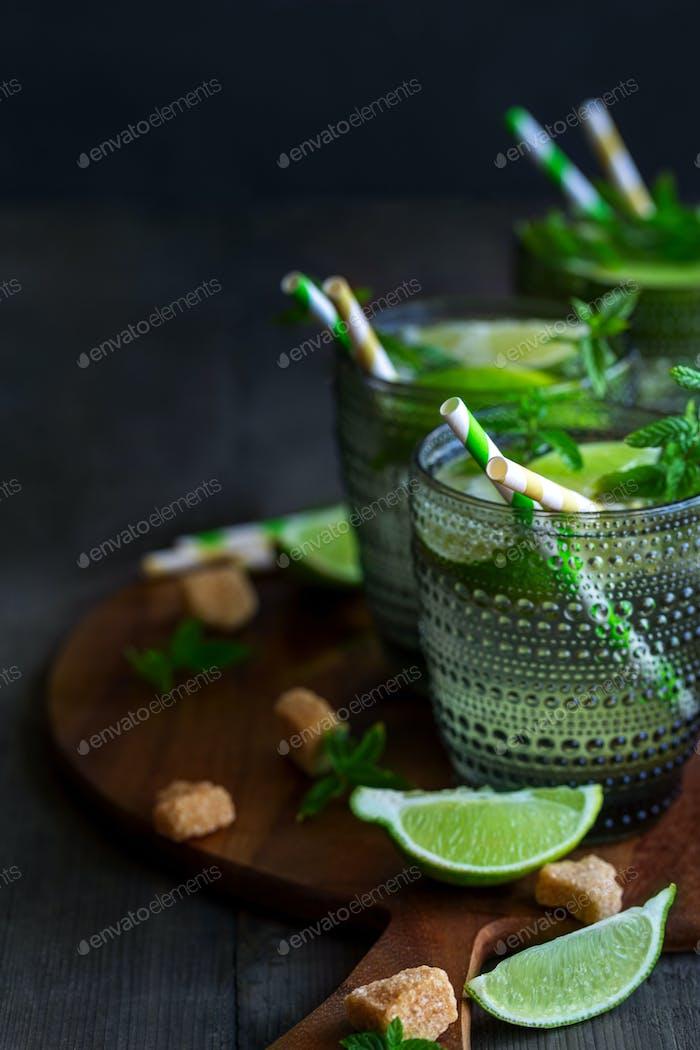 Mojito cocktail background