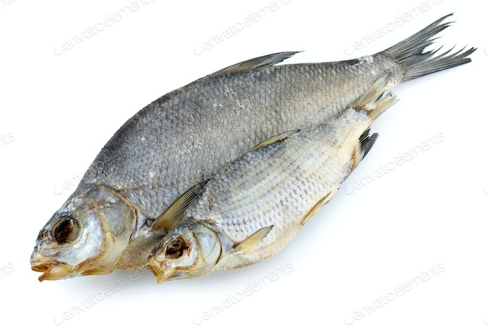 Dried bream and sea roach fishes