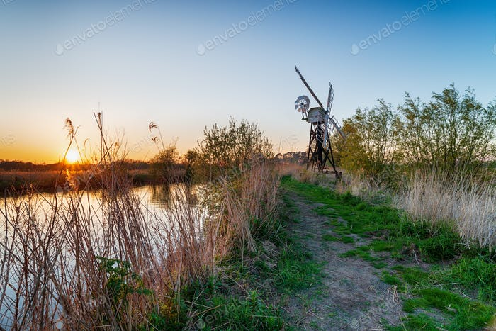 Sunset over Boardman's Drainage Mill