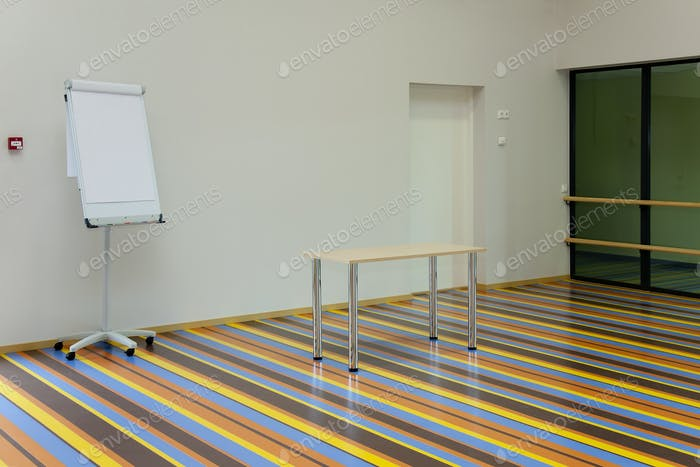 Colorful Striped Gymnasium flooring