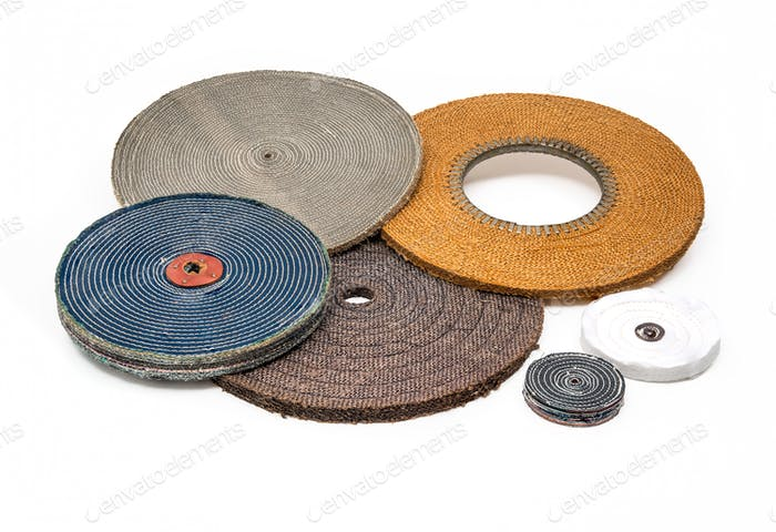 Soft industrial polishing buffing wheels