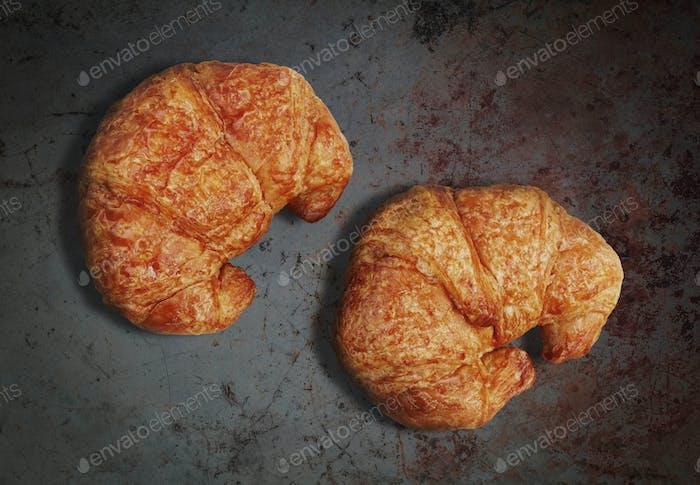 croissants on concrete floors