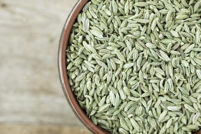 Fennel Seeds in Bowl