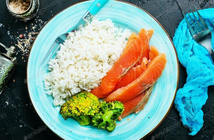 Mittagessen auf Teller
