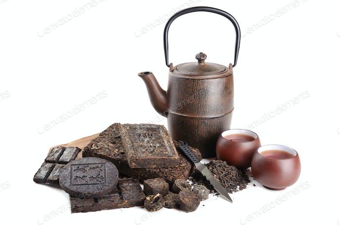 Healthy pu-erh tea drink