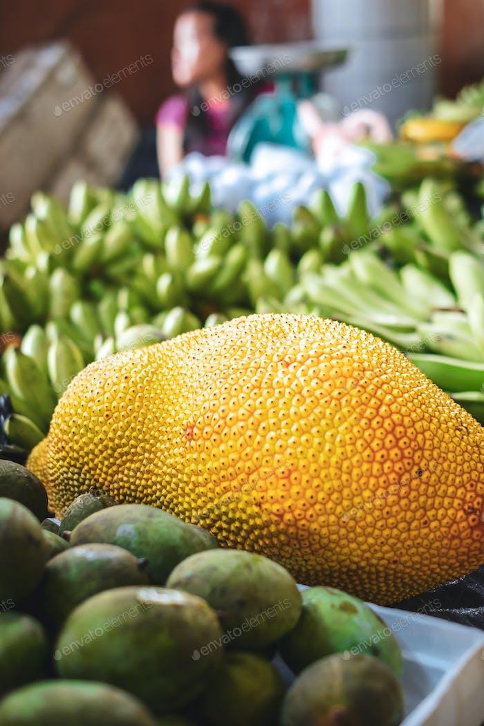 KUCHING / SARAWAK  / MALAYSIA / JUNE 2014: Jack fruit at the loc