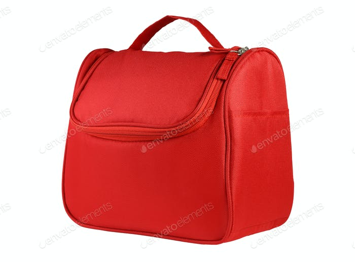 Red Hand Bag with Handle