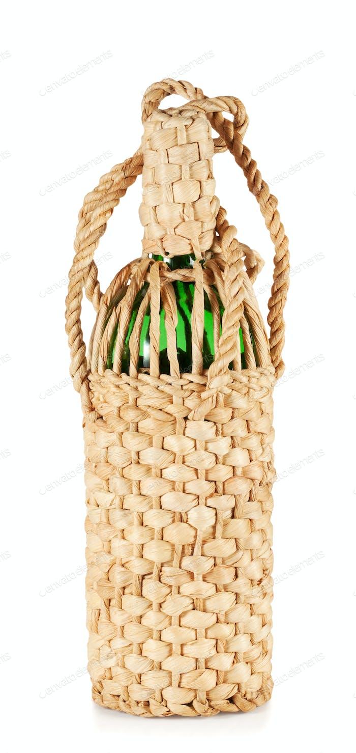Green bottle braided