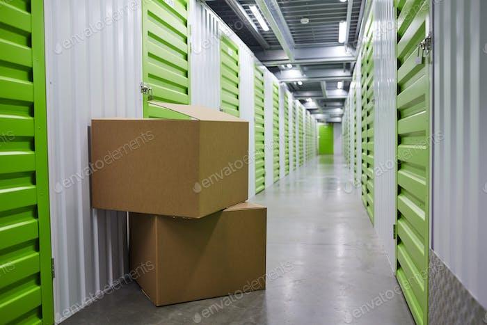 Big packages in storage room