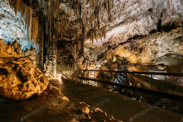 Cuevas De Nerja - Caves Of Nerja In Spain. Famous Landmark.