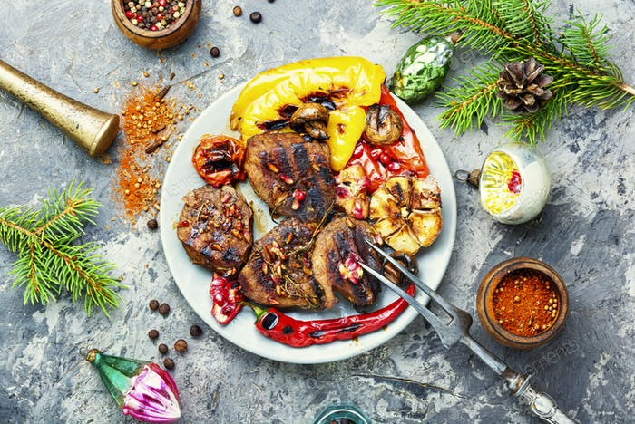 Christmas grilled meat
