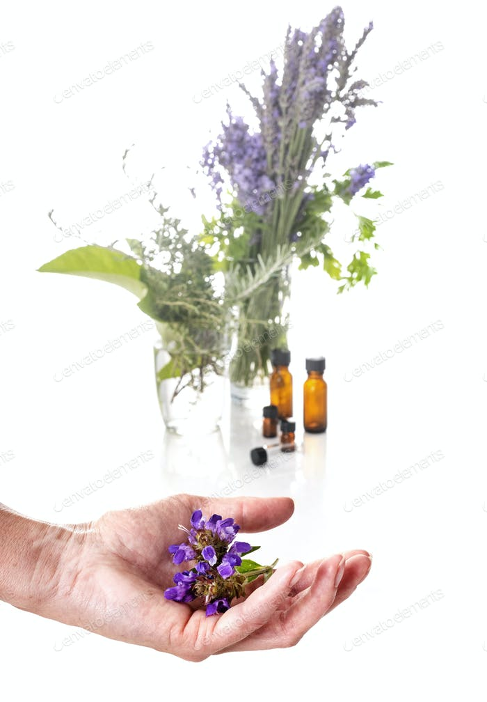flower and essential oils