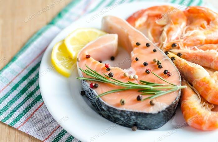 Thumbnail for Salmon & shrimps