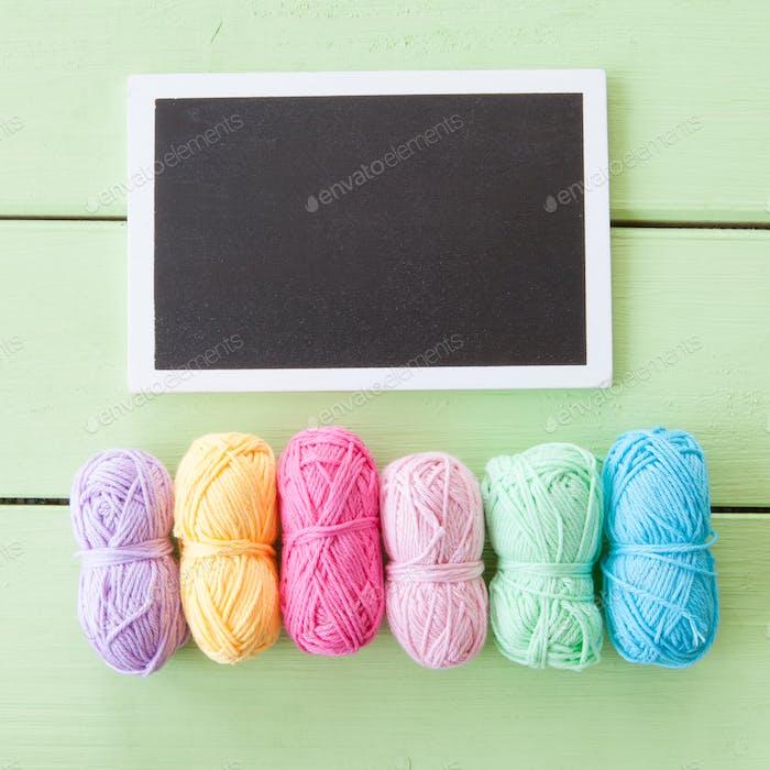 Colorful cotton yarns
