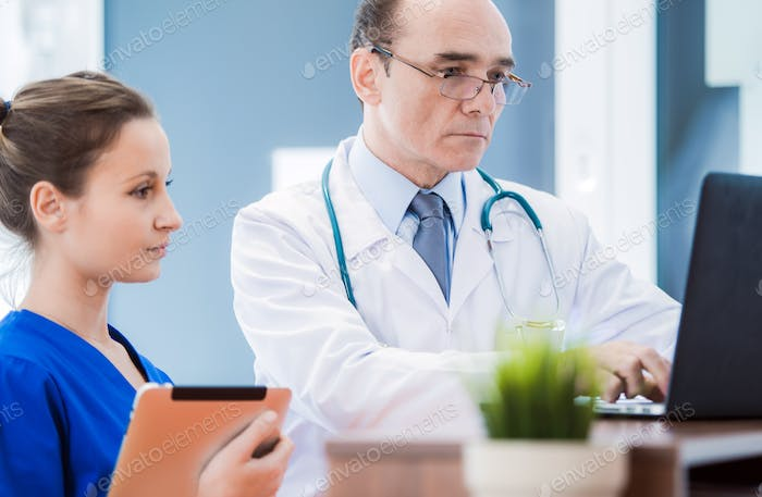 Medical Doctor with Laptop