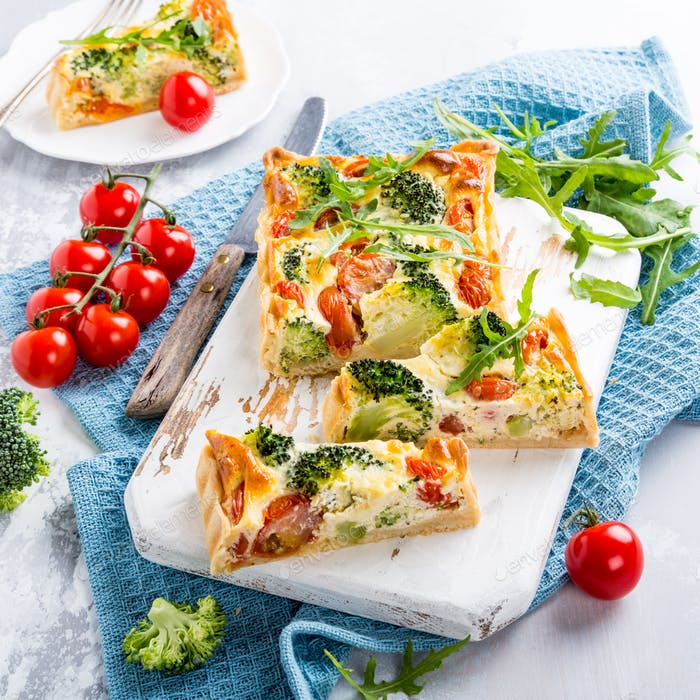 Vegetarian homemade quiche