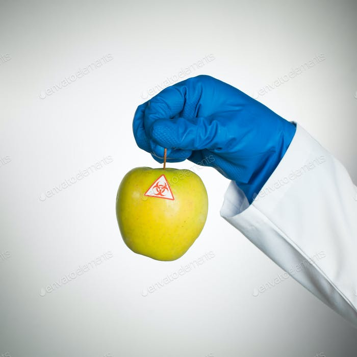 bio hazardous apple specimen