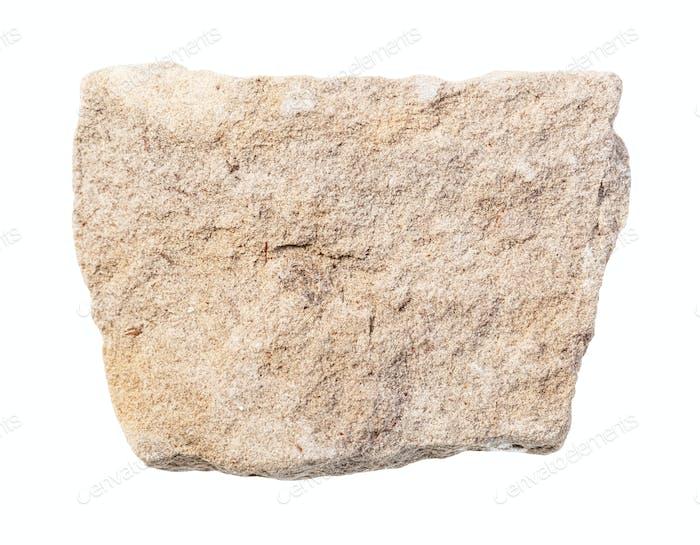 unpolished gray dolomite rock isolated on white