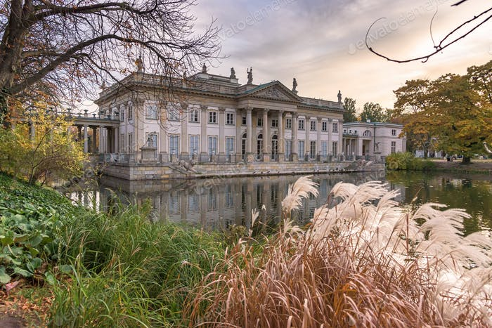Palace on Isle in the Royal Baths Park in Warsaw