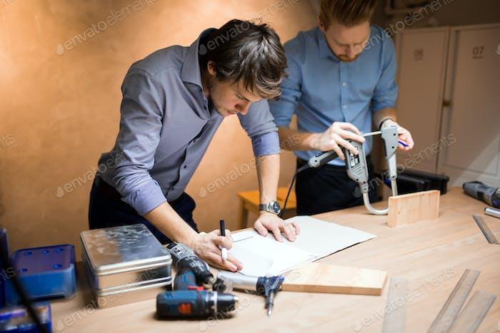 Industrial planning in workshop