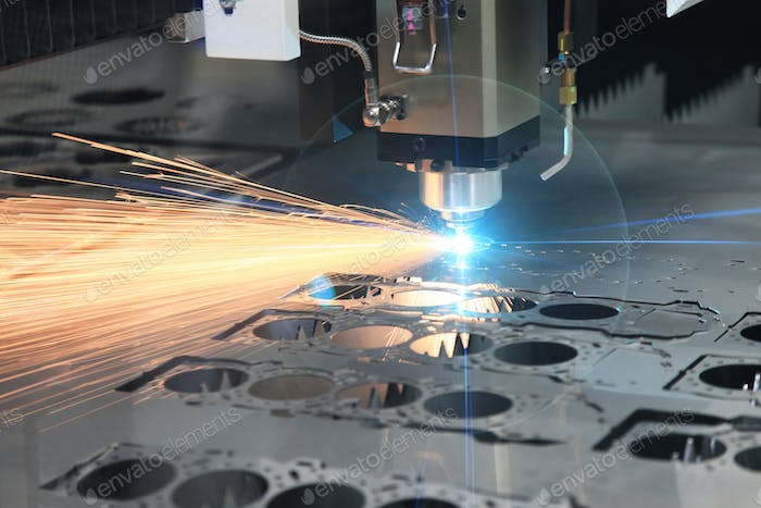 The hi-precision sheet cutting process by laser cut