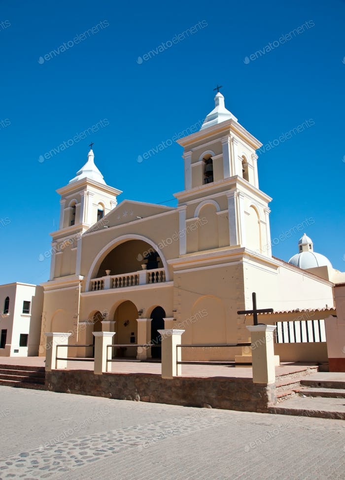 Beautiful colonial church in Argentina