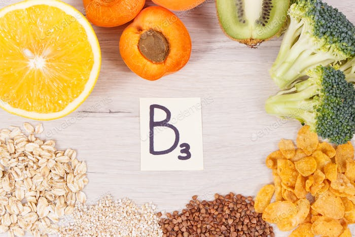 Inscription B3 and nutritious products containing vitamins and minerals