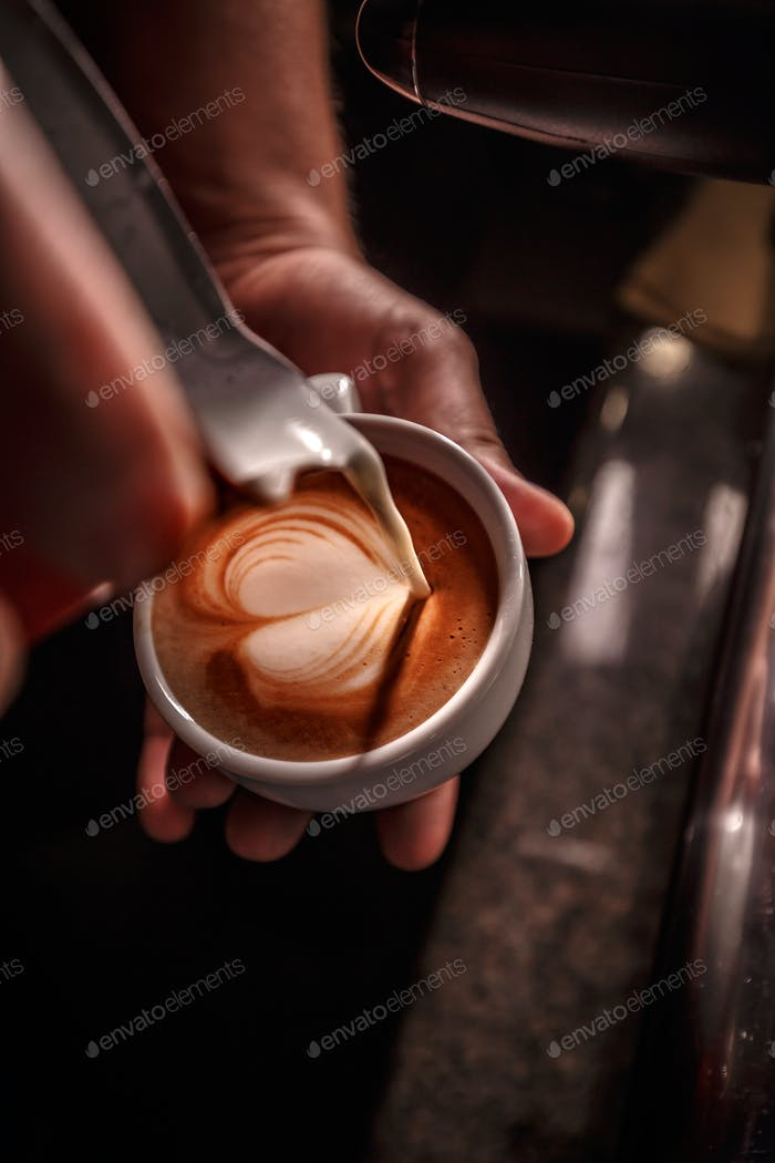 Coffee preparation and service concept