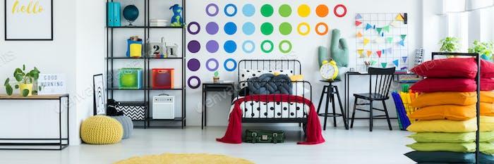 Kids colorful bedroom