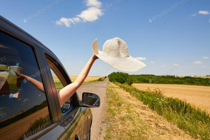 Enjoying a road trip