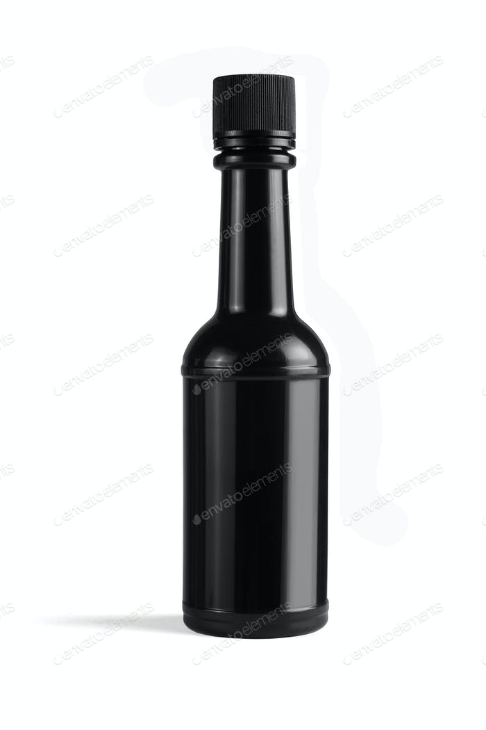 Black Plastic Bottle