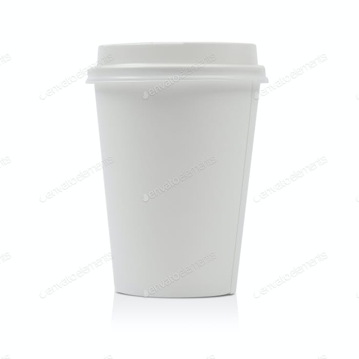 Thumbnail for Takeaway paper coffee cup isolated on white background including clipping path
