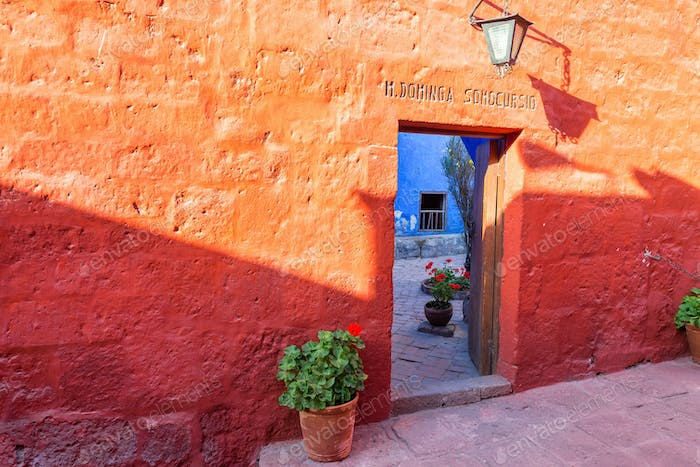 Red Wall in Santa Catalina Monastery